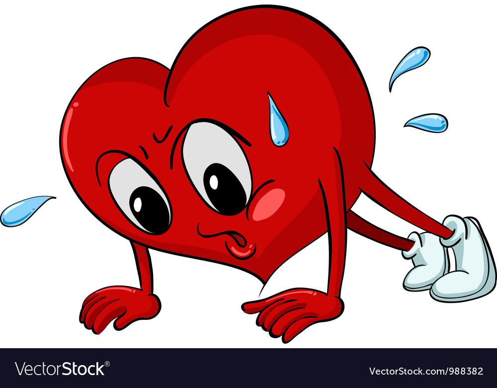 Active cartoon heart vector | Price: 1 Credit (USD $1)