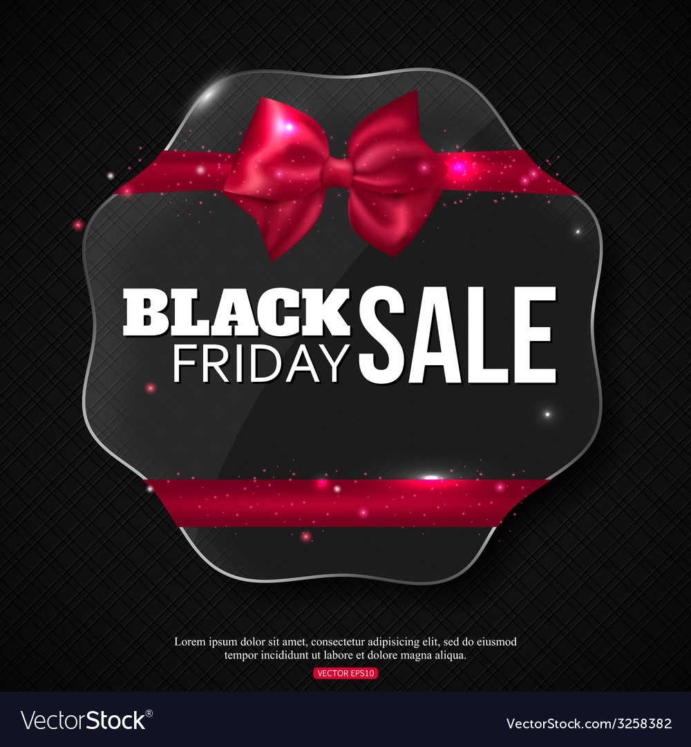 Black friday sale background with shining glass vector | Price: 1 Credit (USD $1)
