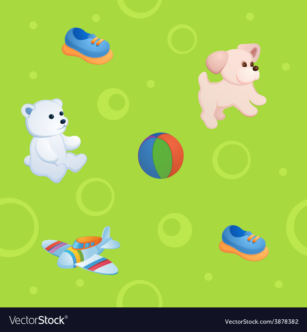Childish background vector | Price: 1 Credit (USD $1)