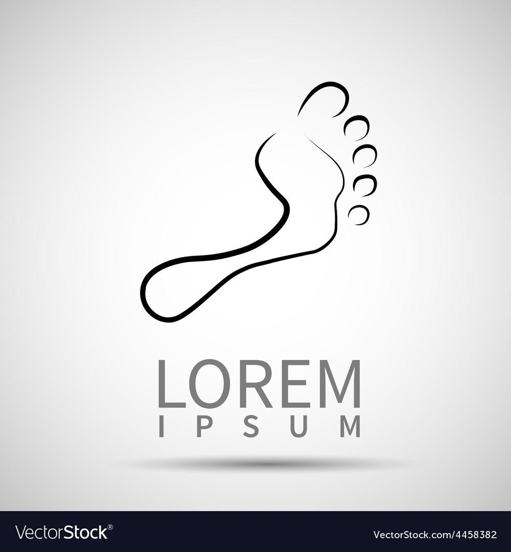 Foot icon leg symbol human vector | Price: 1 Credit (USD $1)