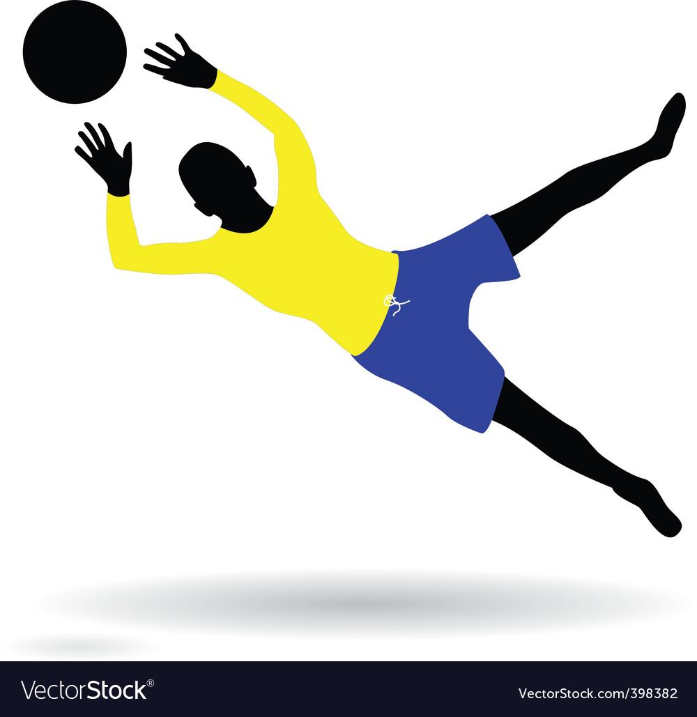 Goalie vector | Price: 1 Credit (USD $1)