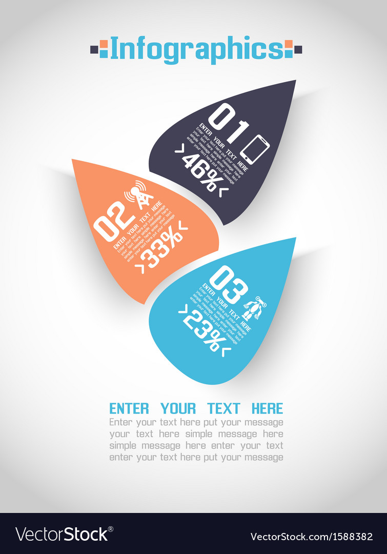 Modern origami business steb style options banner vector | Price: 1 Credit (USD $1)
