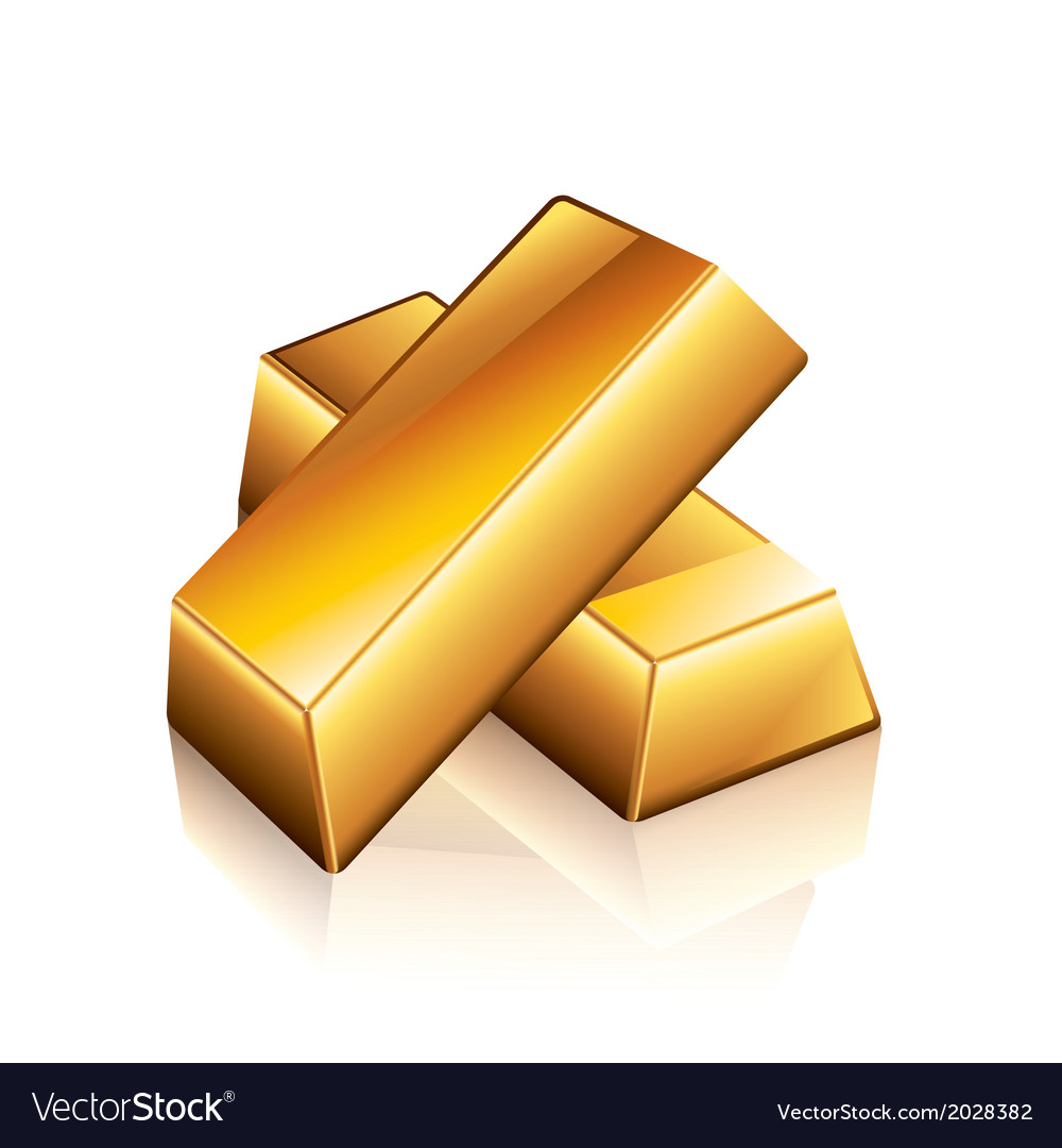 Object gold bars vector | Price: 1 Credit (USD $1)