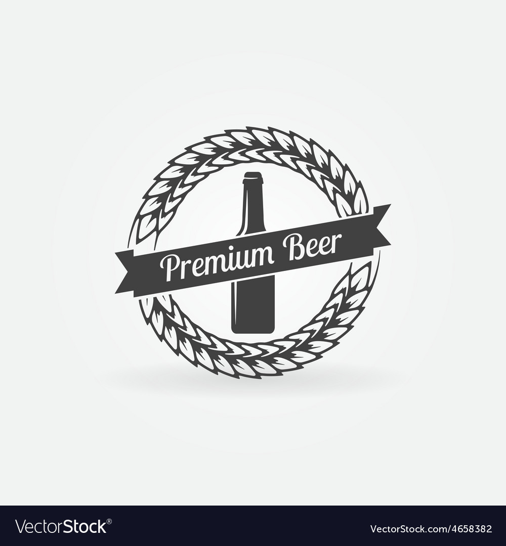 Premium beer bottle logo vector | Price: 1 Credit (USD $1)