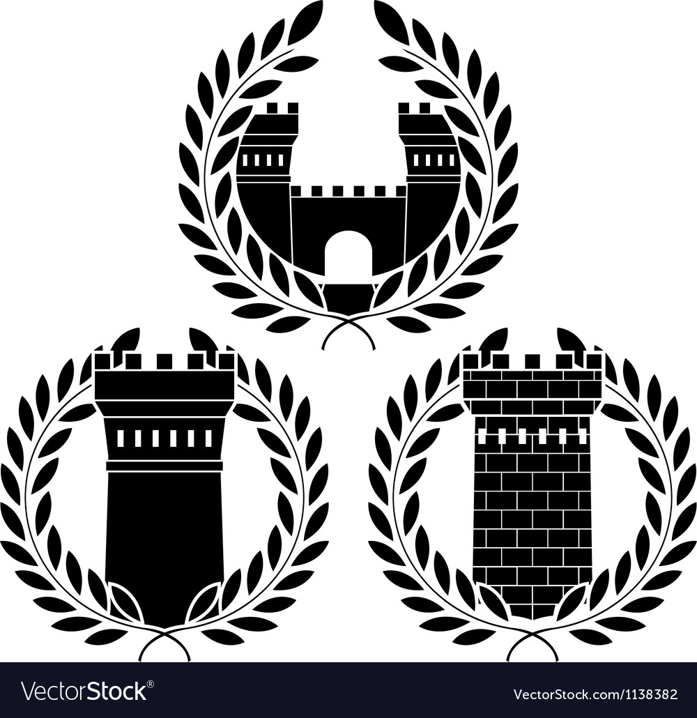Set of towers vector | Price: 1 Credit (USD $1)