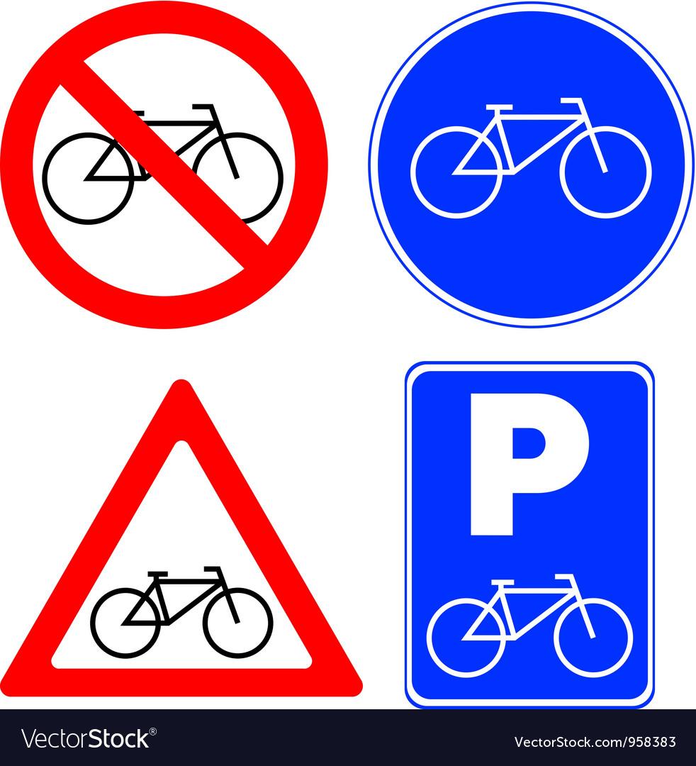 Bicycle symbols vector | Price: 1 Credit (USD $1)