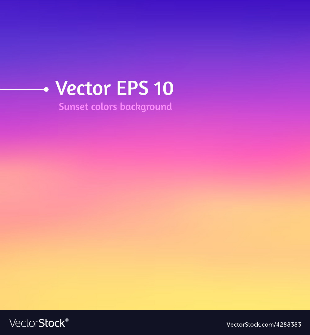 Blurred sunset colors background vector | Price: 1 Credit (USD $1)