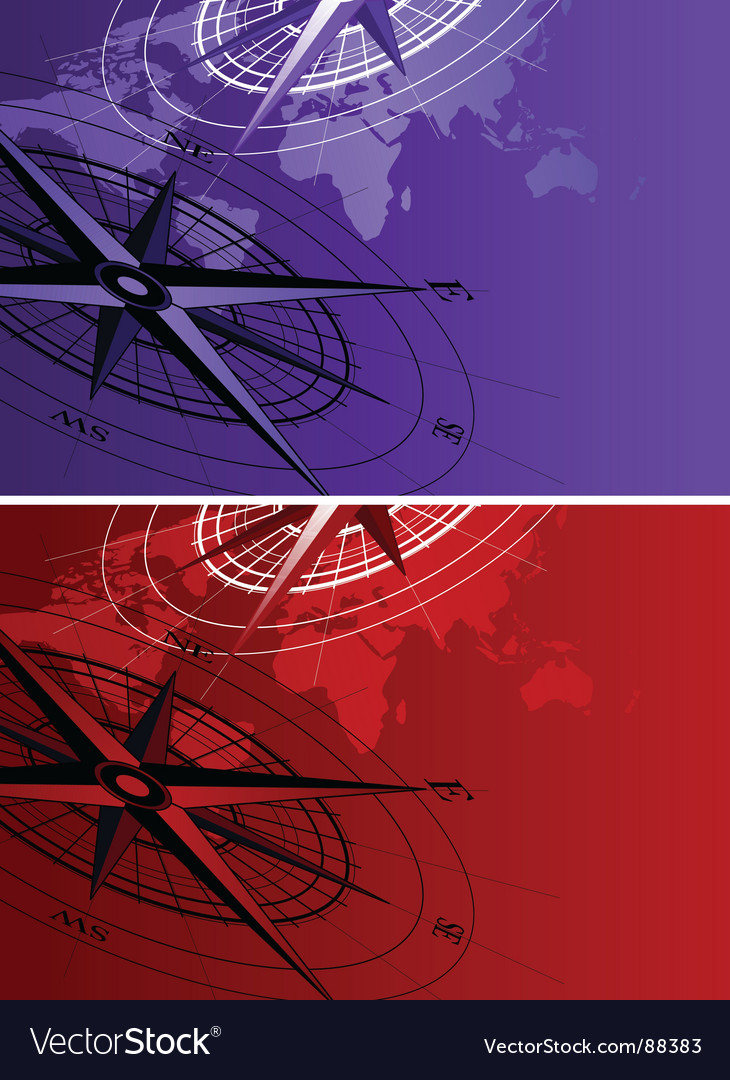 Compass map vector | Price: 1 Credit (USD $1)