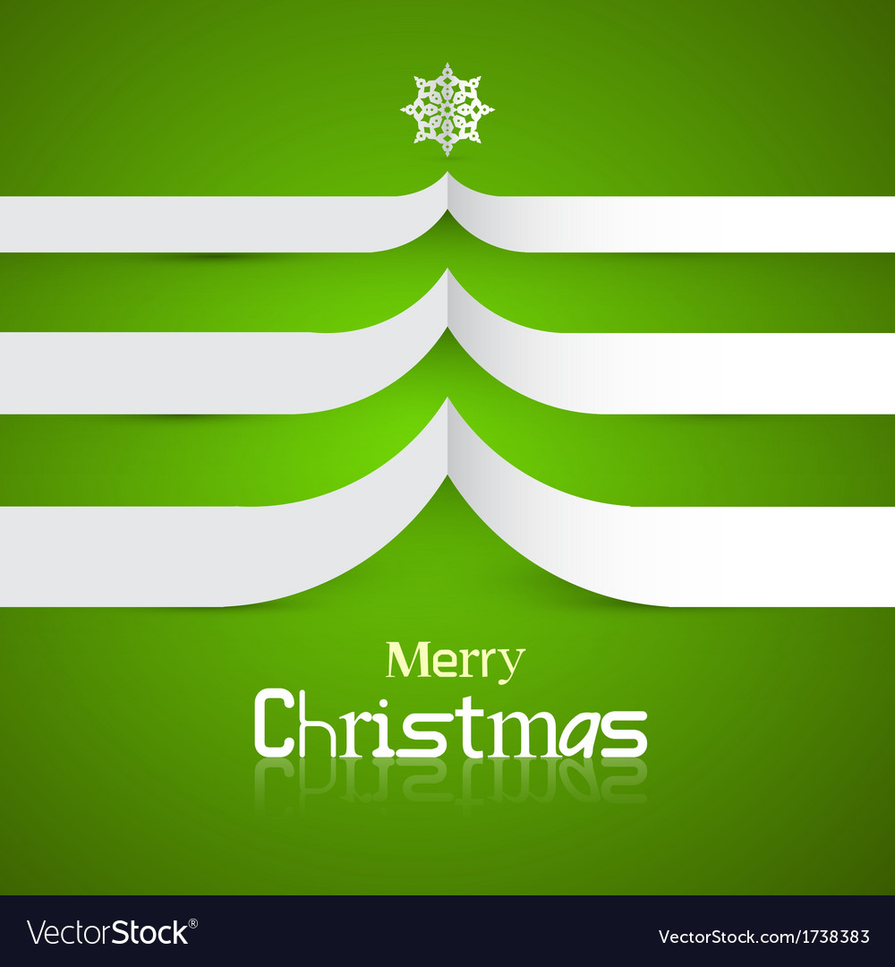 Green abstract merry christmas background vector | Price: 1 Credit (USD $1)