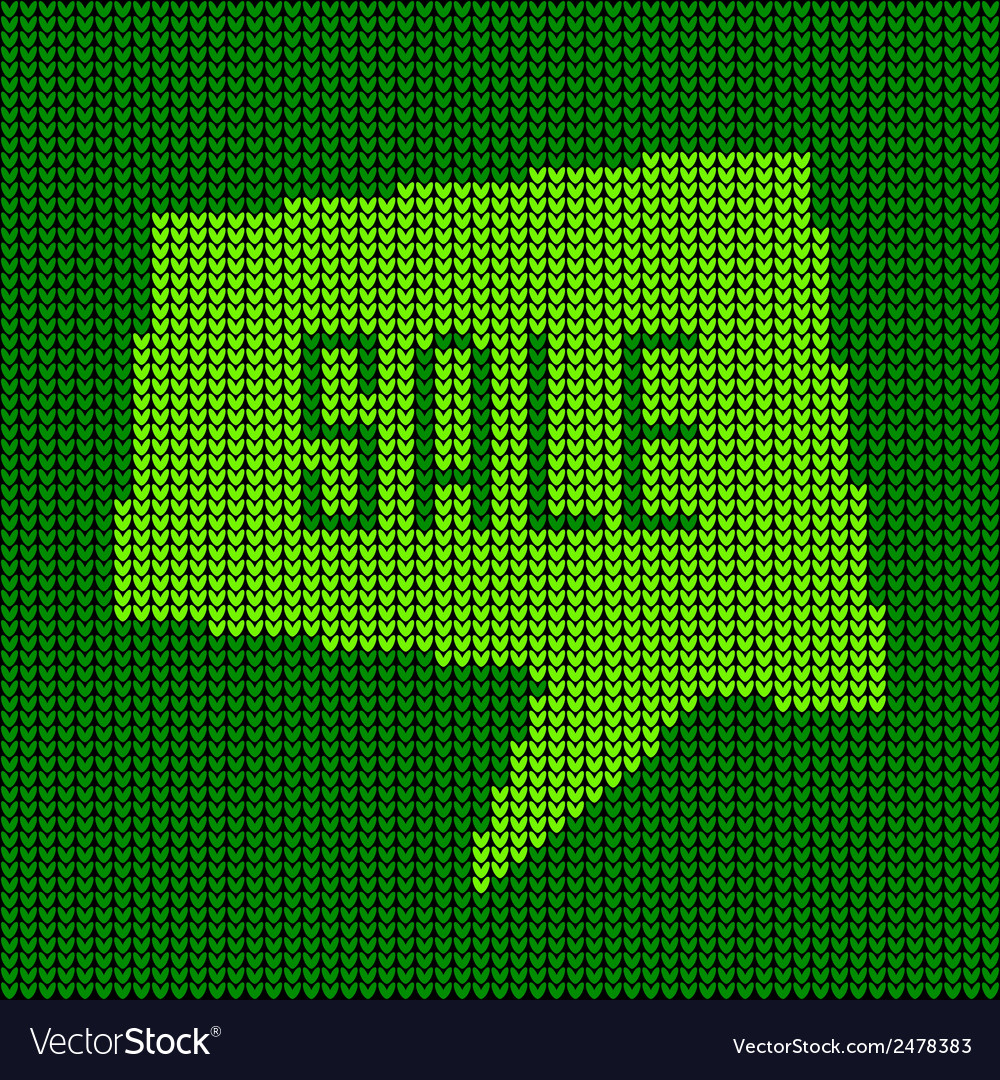 Green knitted sale bubble for your design vector | Price: 1 Credit (USD $1)