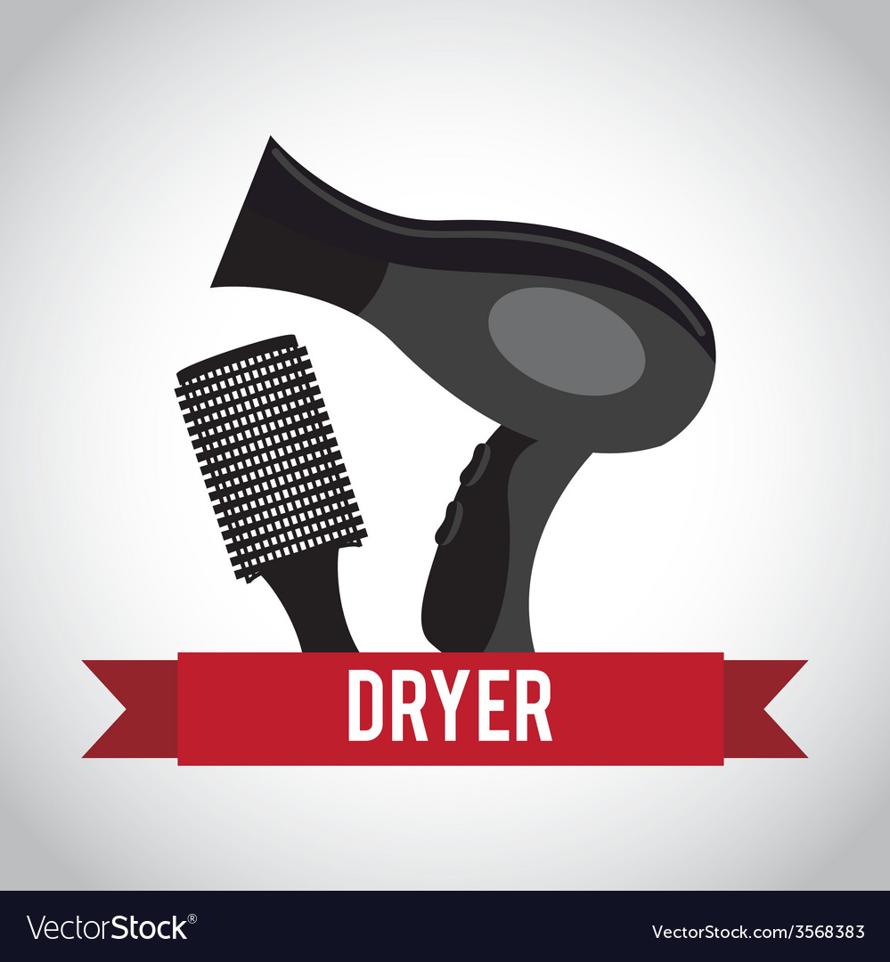 Hair dryer design vector | Price: 1 Credit (USD $1)