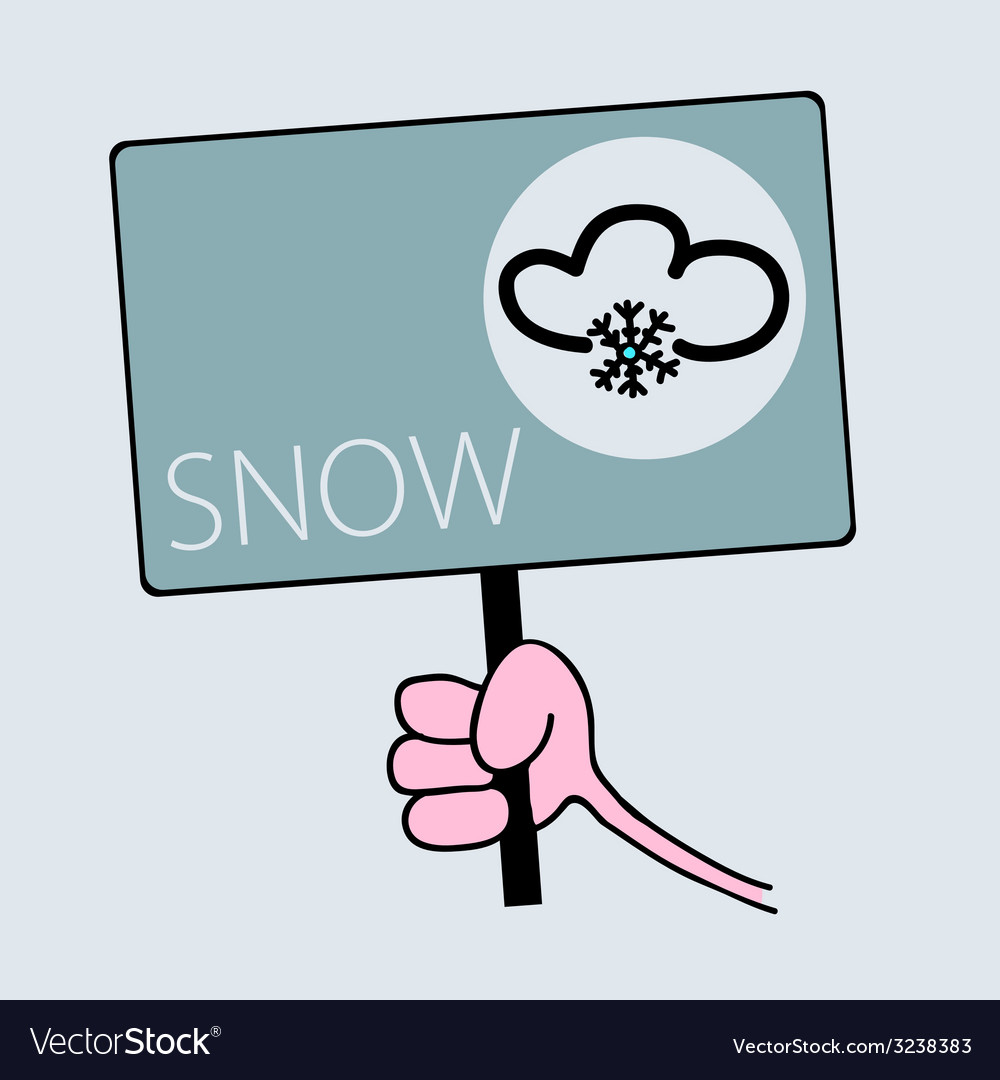 Panel for snow weather vector | Price: 1 Credit (USD $1)