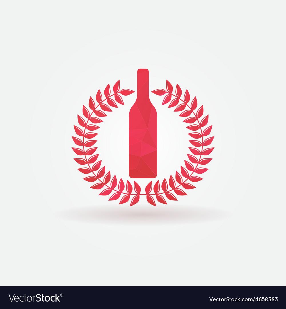 Red wine polygonal logo vector   Price: 1 Credit (USD $1)