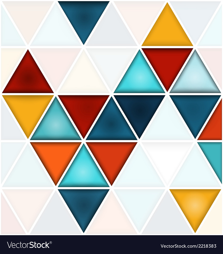 Triangles background with white copy space vector | Price: 1 Credit (USD $1)