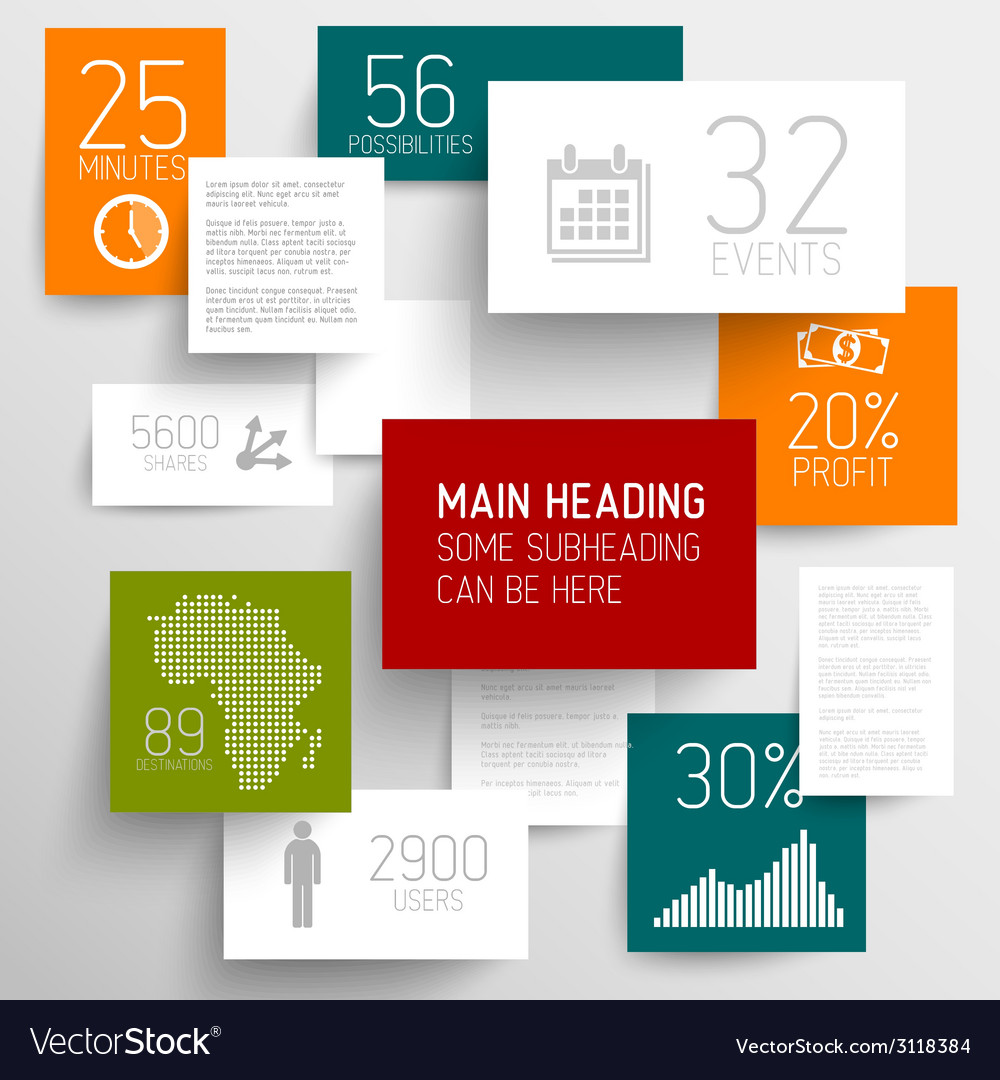 Abstract rectangles background infographic vector | Price: 1 Credit (USD $1)