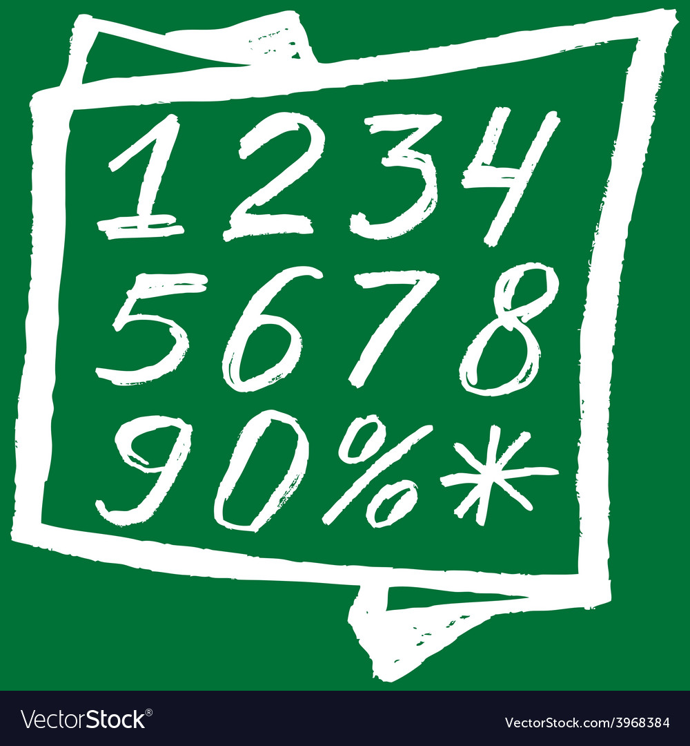 Back to school background white numbers on a green vector | Price: 1 Credit (USD $1)