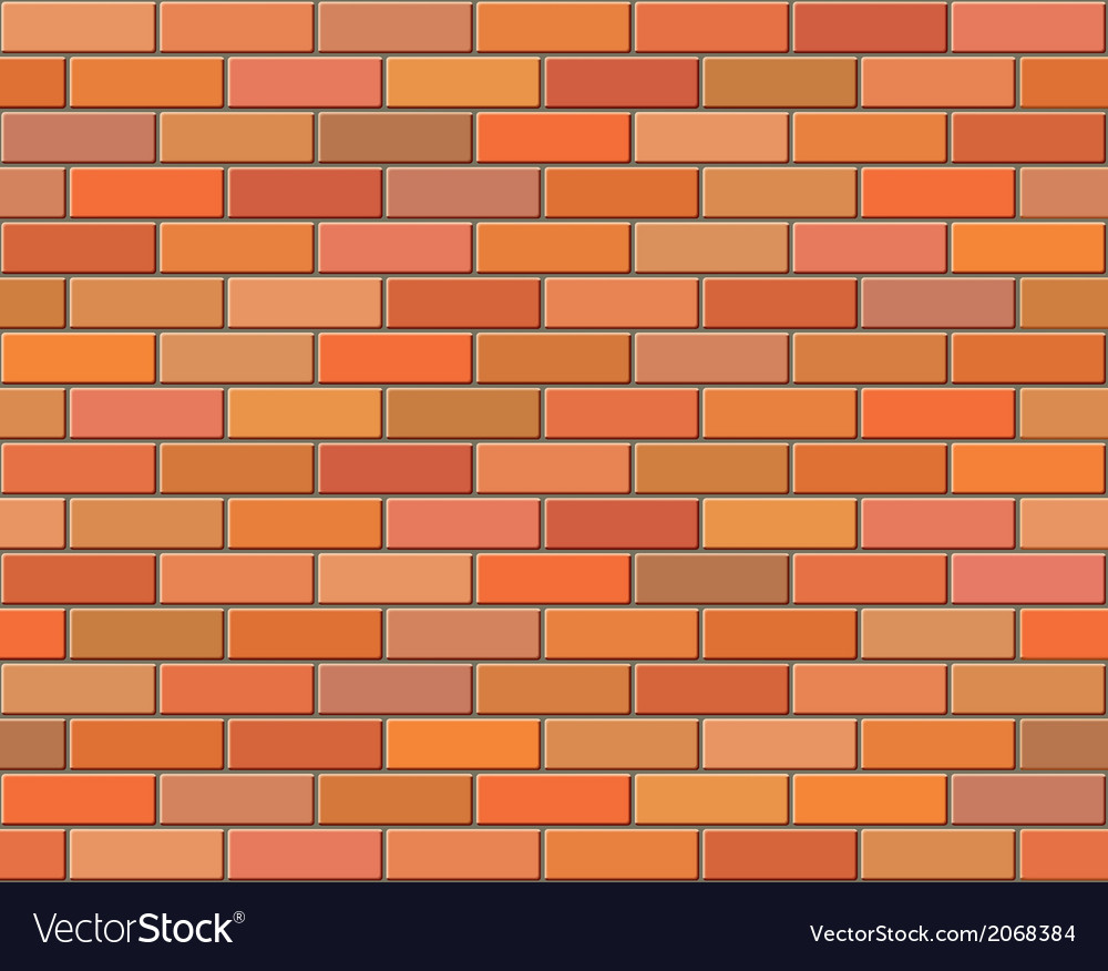 Red brick wall seamless background vector | Price: 1 Credit (USD $1)