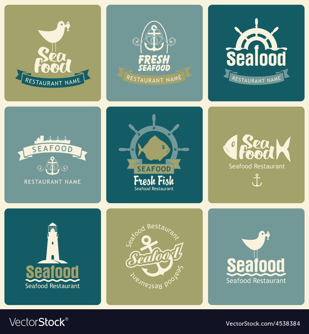 Seafood set vector | Price: 1 Credit (USD $1)