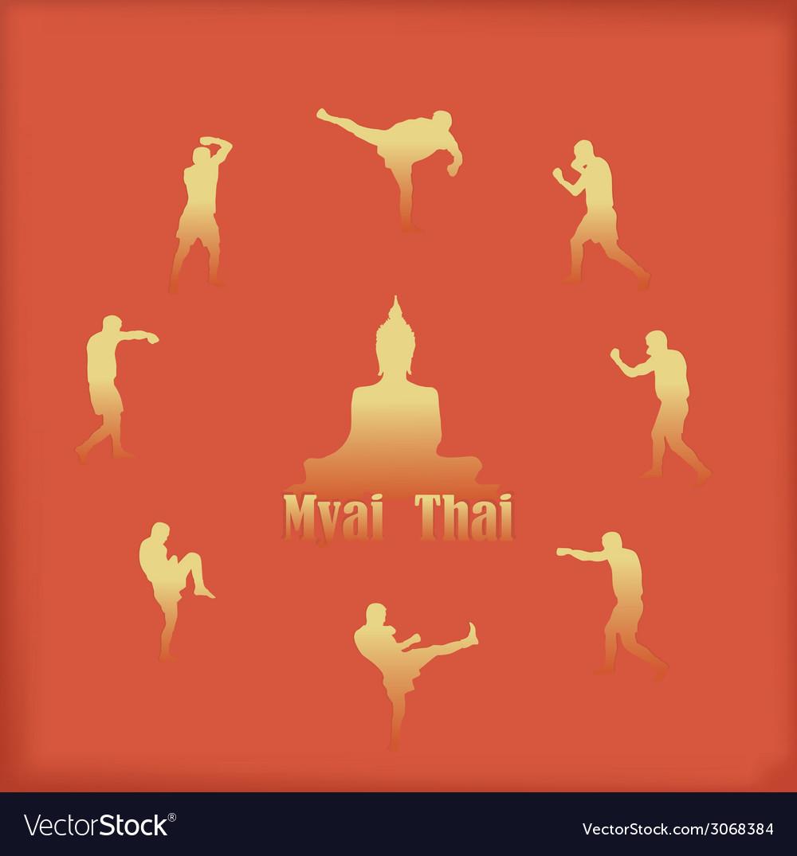 Thai boxing vector | Price: 1 Credit (USD $1)