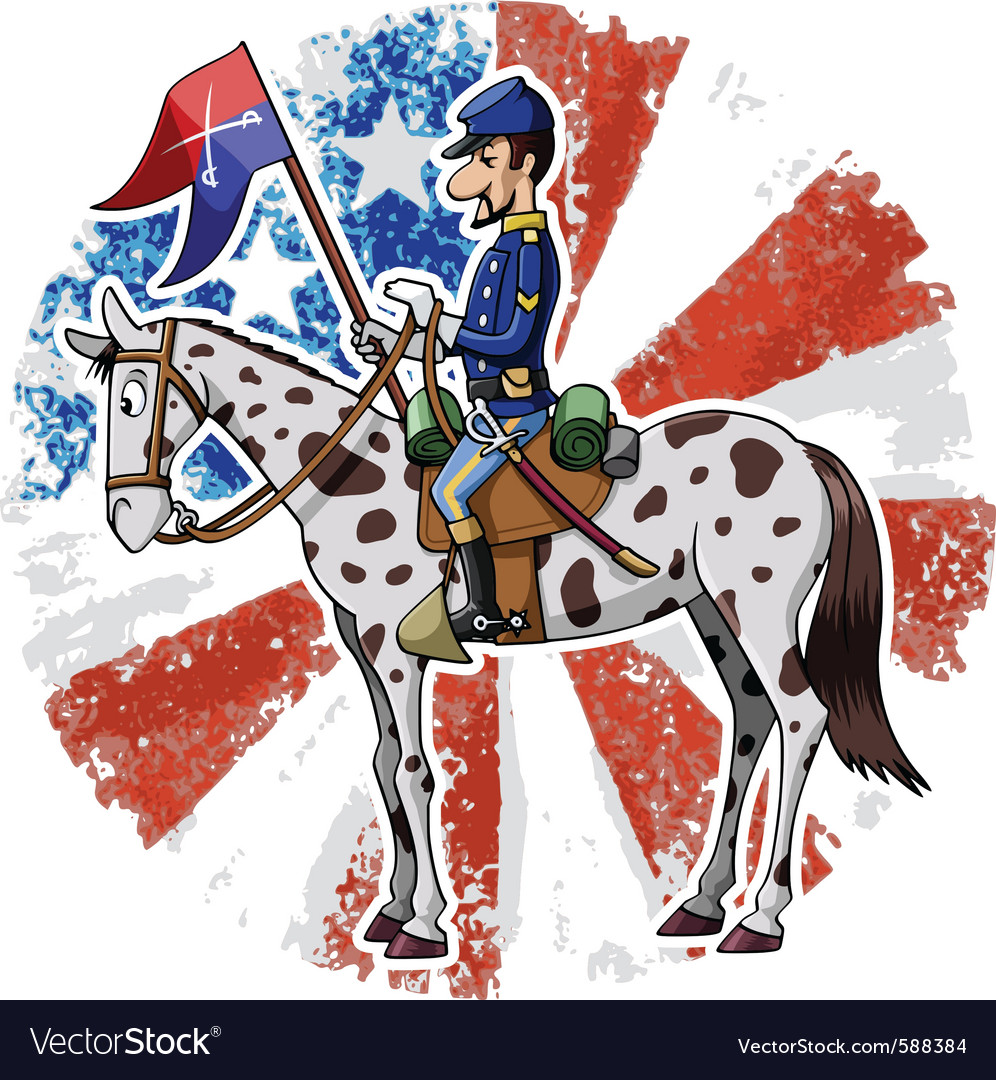 Us cavalry vector | Price: 3 Credit (USD $3)