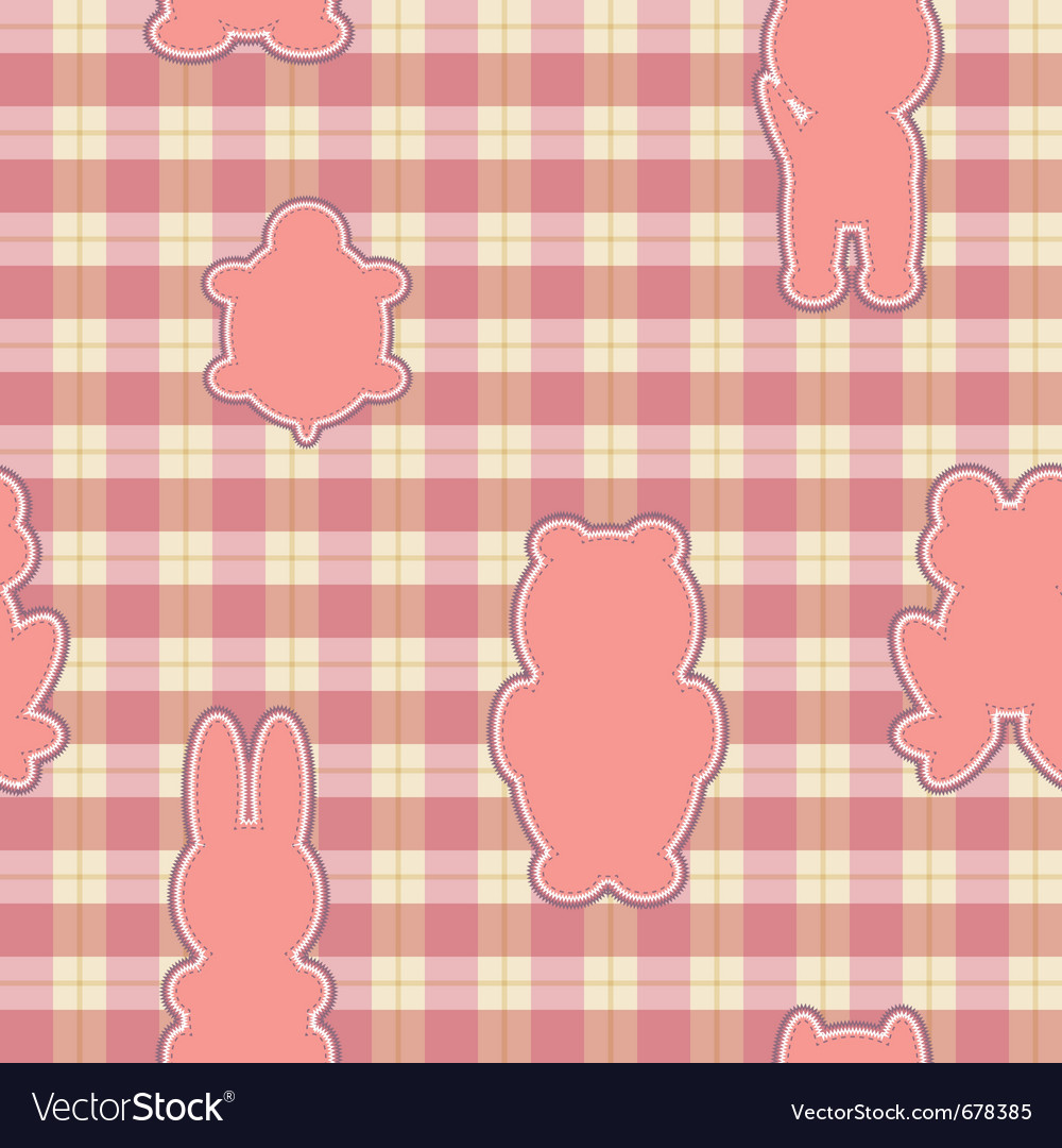 Applique in the shape of an animal vector | Price: 1 Credit (USD $1)