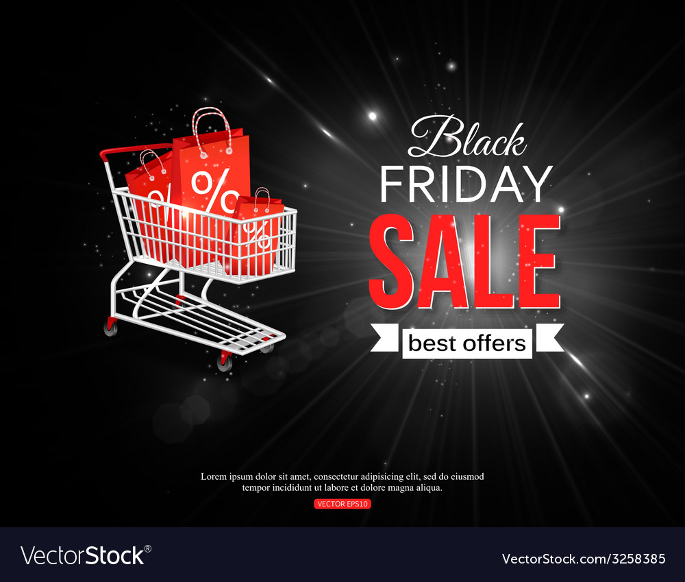 Black friday sale shining background with vector | Price: 1 Credit (USD $1)