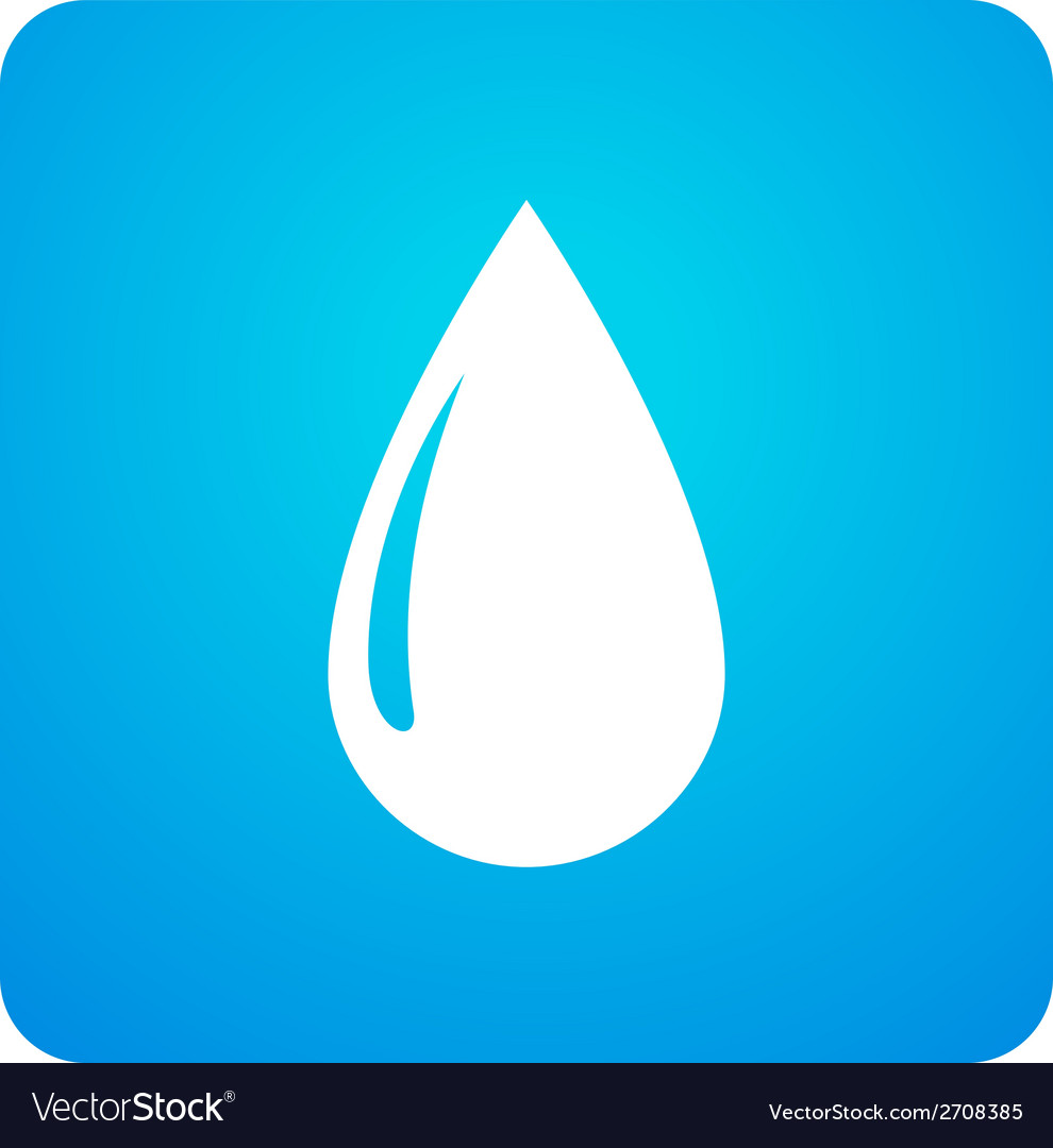 Blue droplet symbol vector | Price: 1 Credit (USD $1)