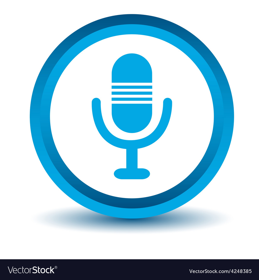 Blue microphone icon vector | Price: 1 Credit (USD $1)