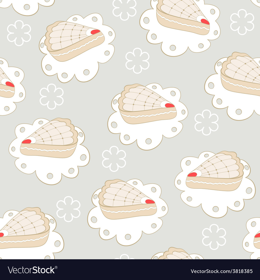 Cakes seamless pattern vector | Price: 1 Credit (USD $1)