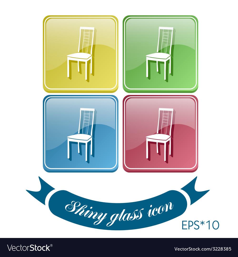 Chair icon symbol furniture icon home interior vector   Price: 1 Credit (USD $1)