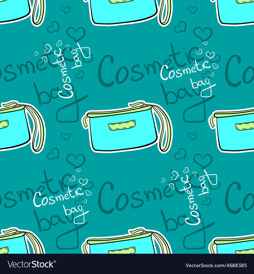 Cosmeticbagpattern vector | Price: 1 Credit (USD $1)