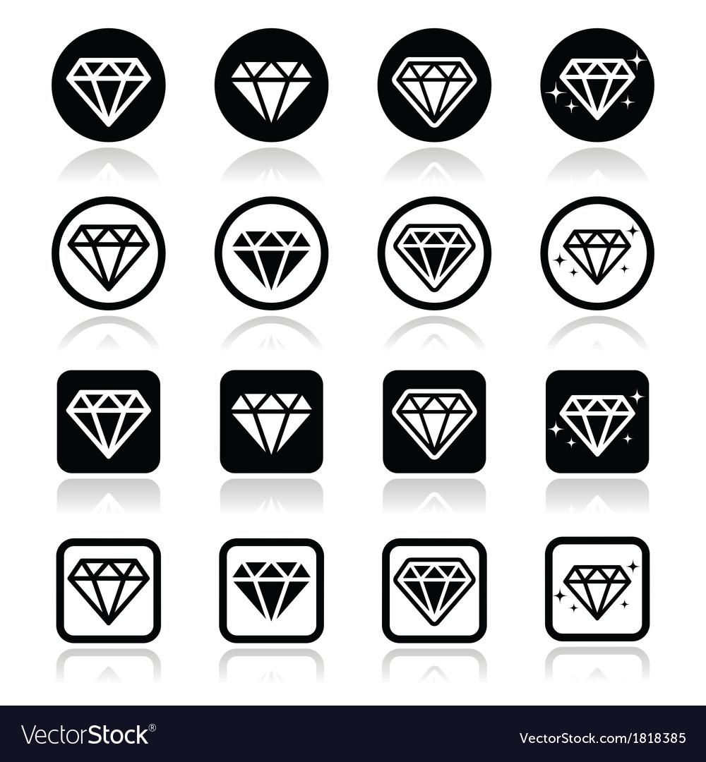 Diamond luxury icons set vector | Price: 1 Credit (USD $1)