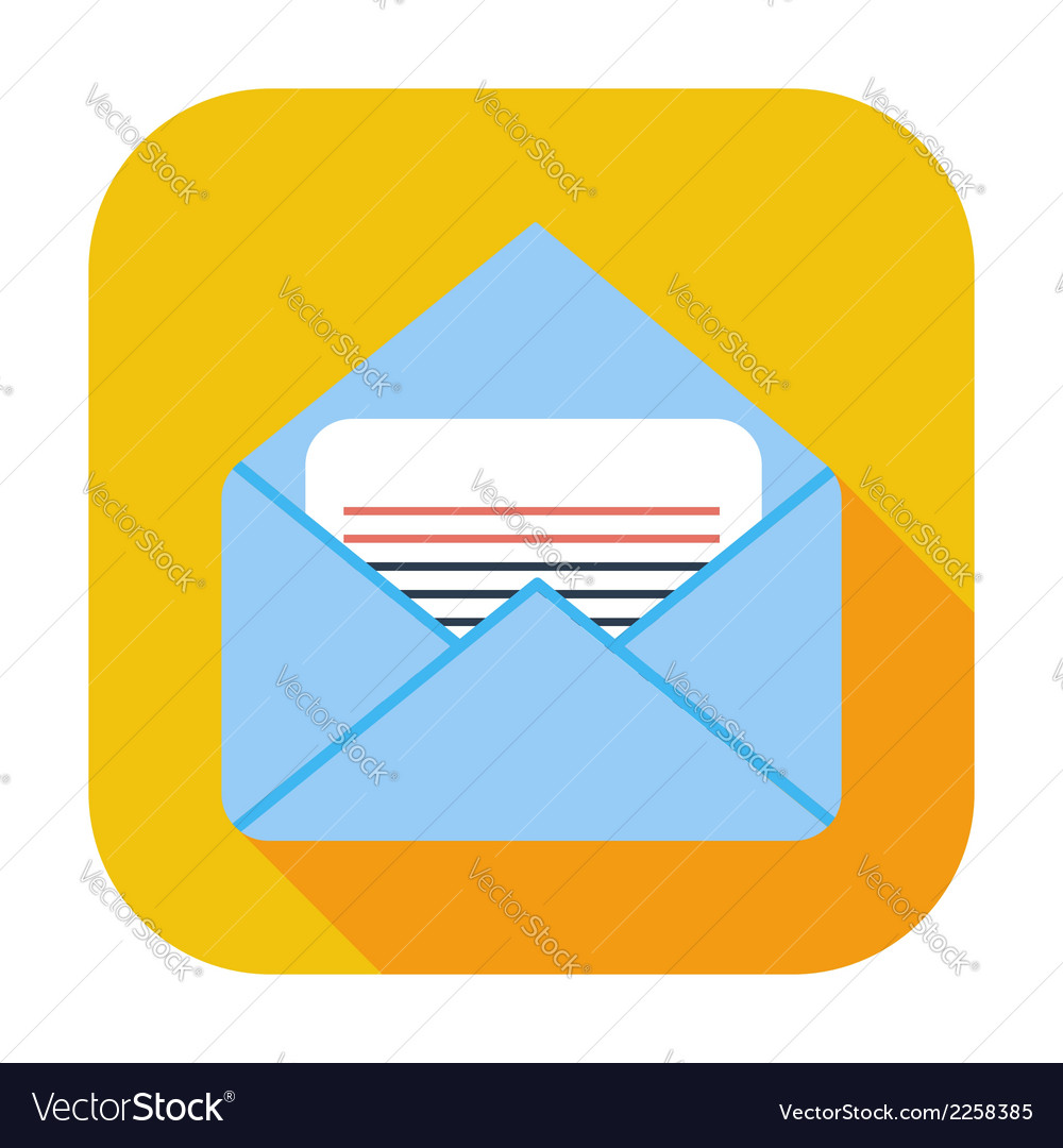 Envelope flat icon vector | Price: 1 Credit (USD $1)