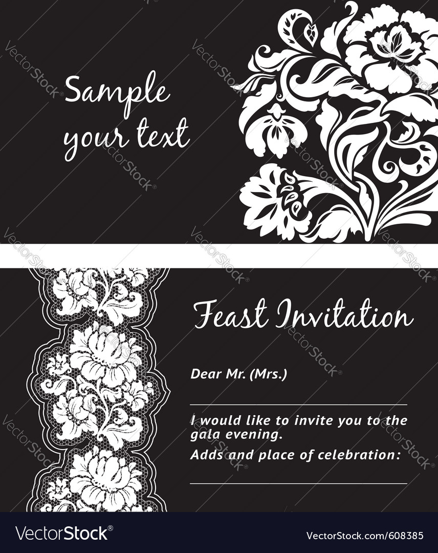 Flower lace greeting card space for your text vector | Price: 1 Credit (USD $1)