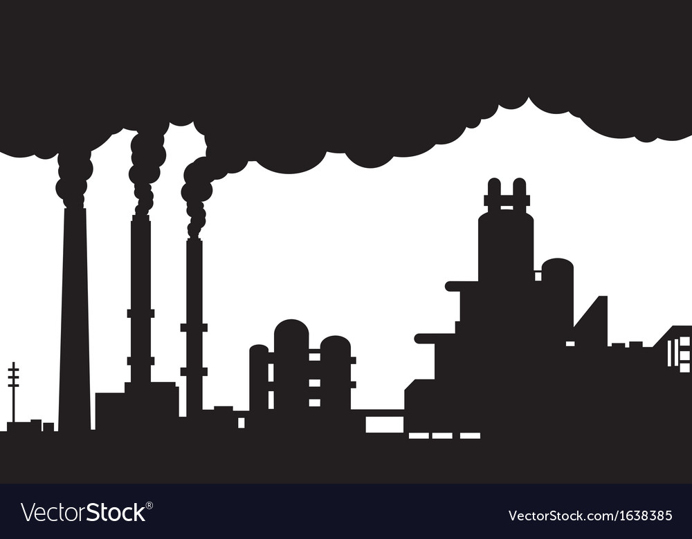 Industrial landscape vector | Price: 1 Credit (USD $1)