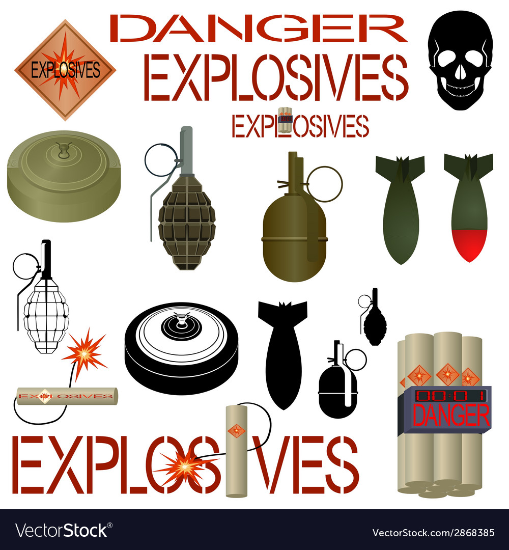 Military and industrial explosives vector | Price: 1 Credit (USD $1)
