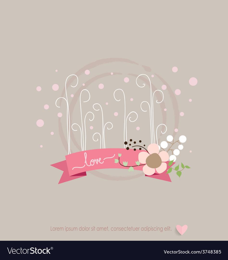 Romantic greeting card design vector | Price: 1 Credit (USD $1)