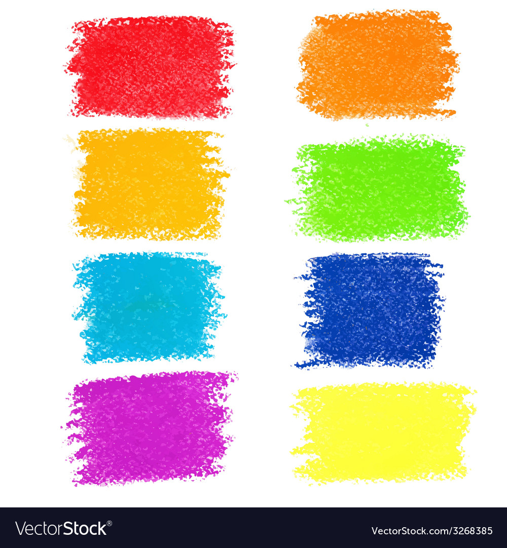 Set of rainbow pastel crayon spots isolated on vector | Price: 1 Credit (USD $1)