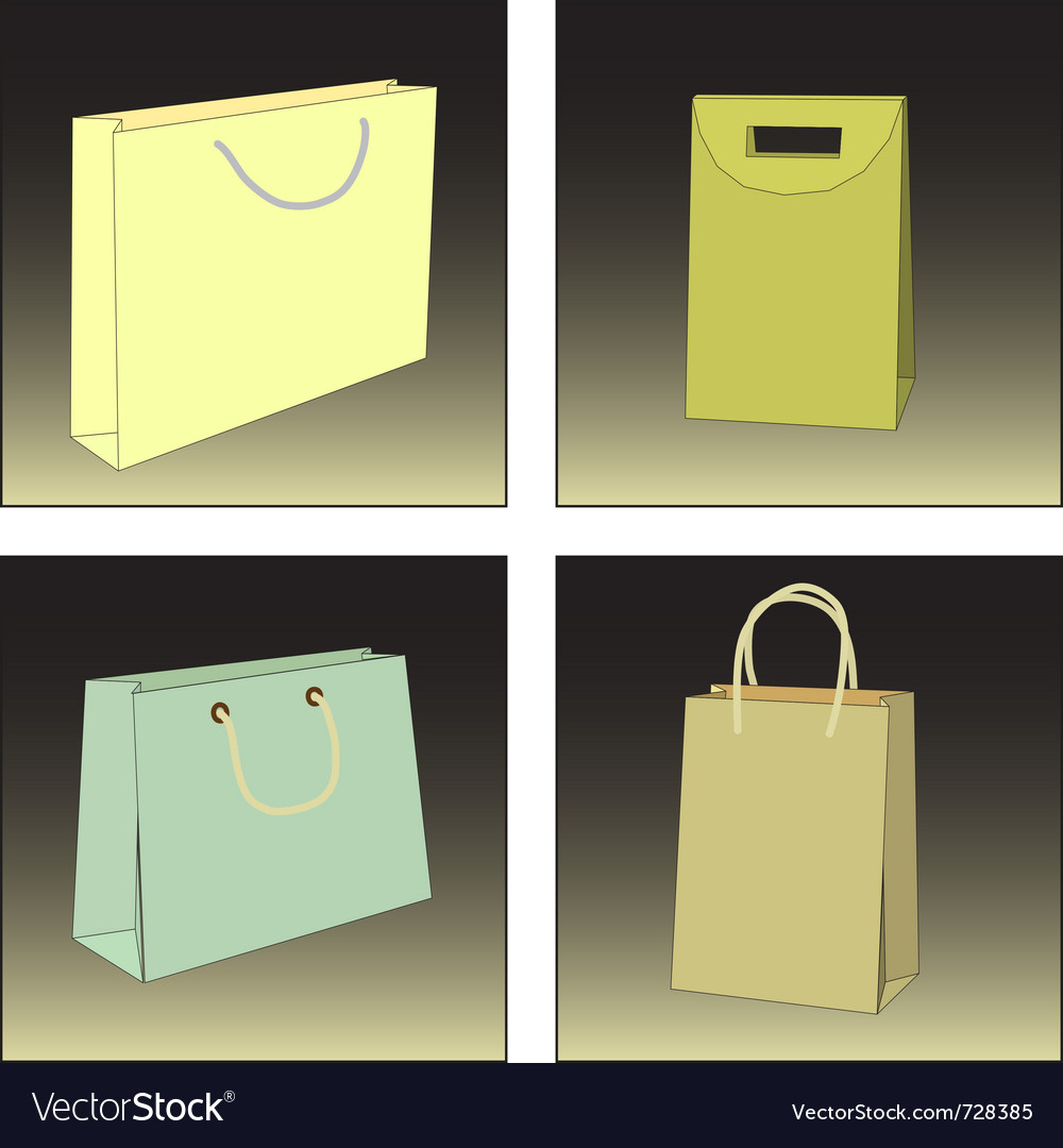 Several shopping bags vector | Price: 1 Credit (USD $1)