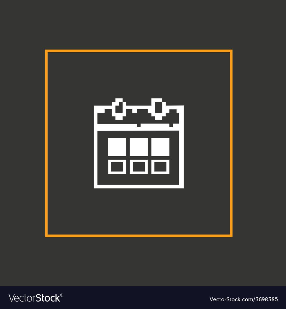 Simple stylish pixel icon calendar design vector   Price: 1 Credit (USD $1)