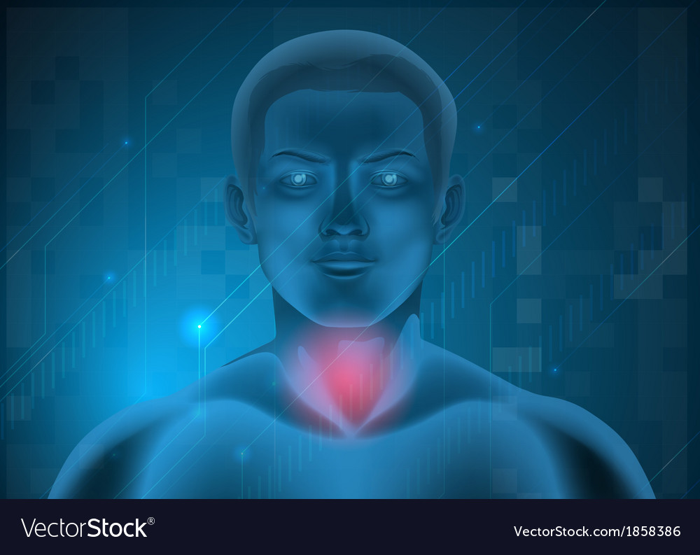 A man experiencing pain at the throat vector | Price: 1 Credit (USD $1)