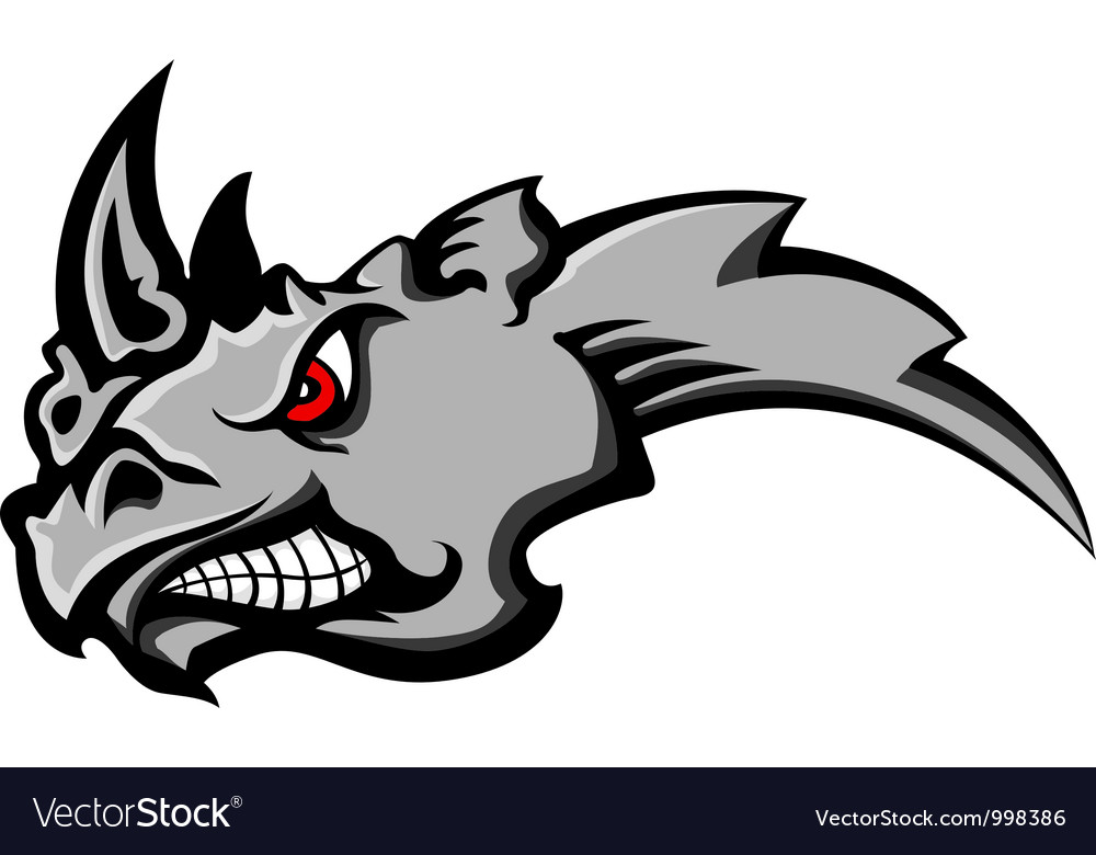 Angry rhino head tattoo vector | Price: 1 Credit (USD $1)
