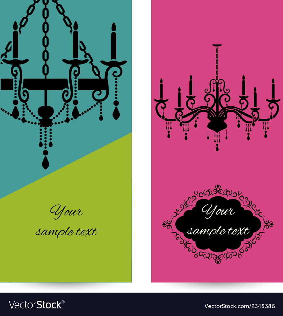 Business card template with chandelier leaflet vector | Price: 1 Credit (USD $1)