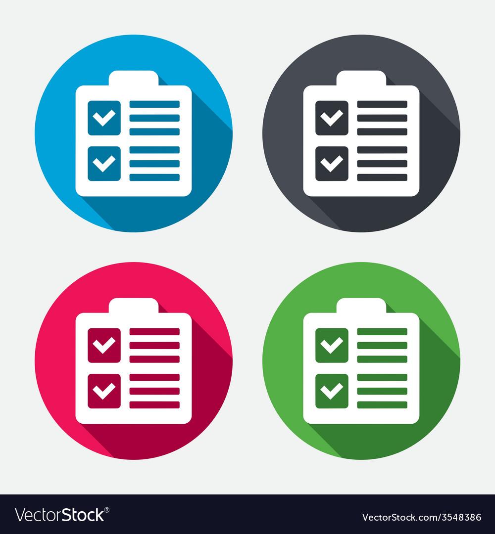 Checklist sign icon control list symbol vector | Price: 1 Credit (USD $1)