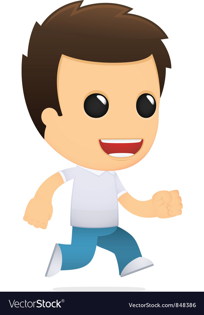 Funny cartoon casual man vector | Price: 1 Credit (USD $1)