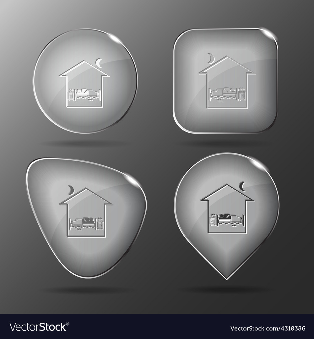 Home bedroom glass buttons vector | Price: 1 Credit (USD $1)