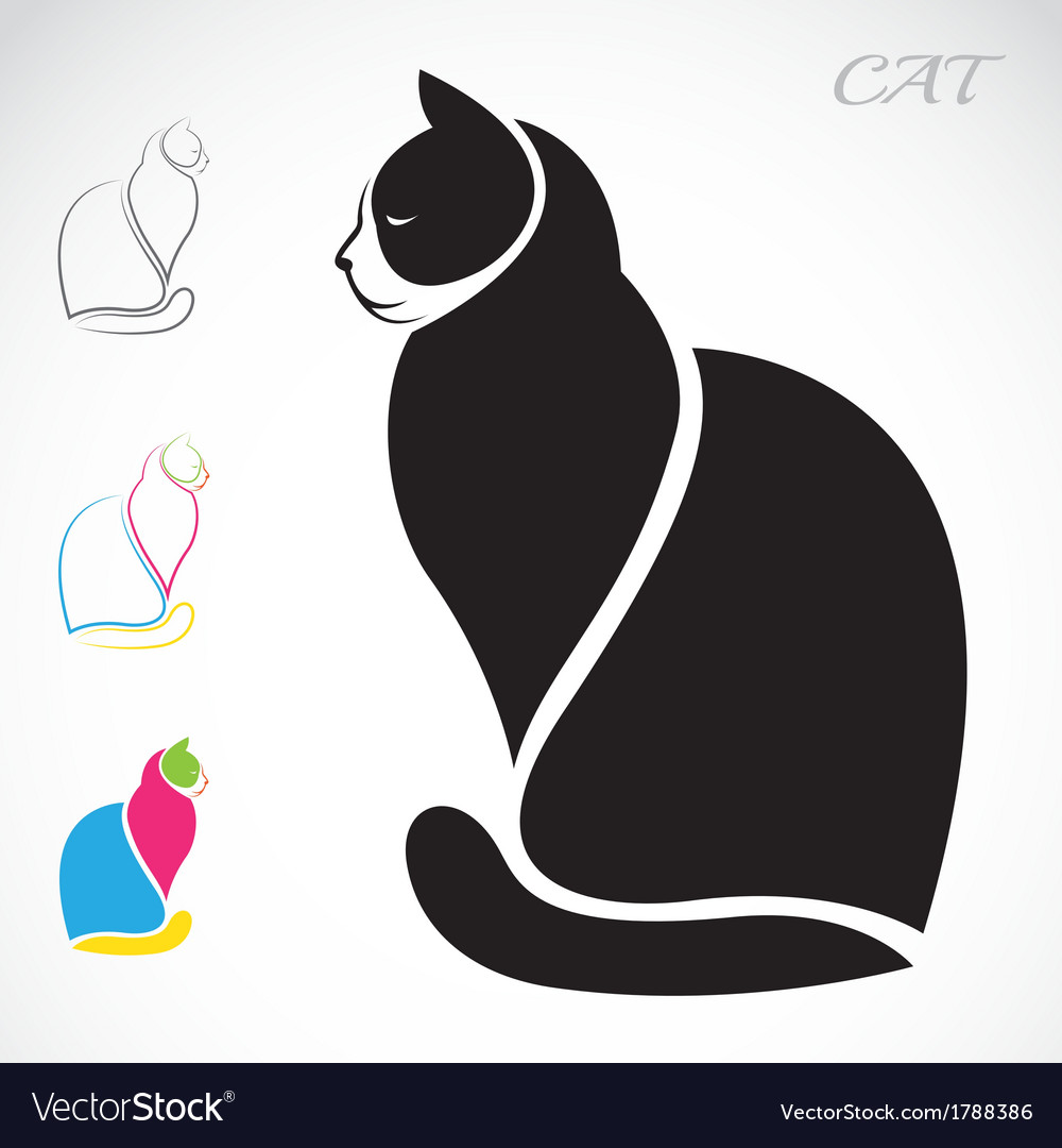 Image of an cat vector | Price: 1 Credit (USD $1)