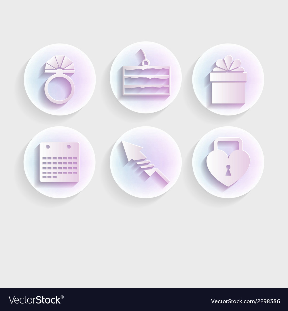 Light icons for wedding vector | Price: 1 Credit (USD $1)