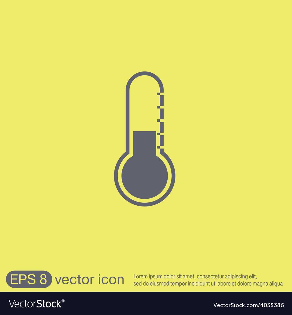 Thermometer icon temperature symbol vector | Price: 1 Credit (USD $1)