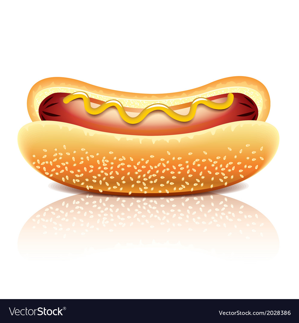 Object hotdog vector | Price: 1 Credit (USD $1)